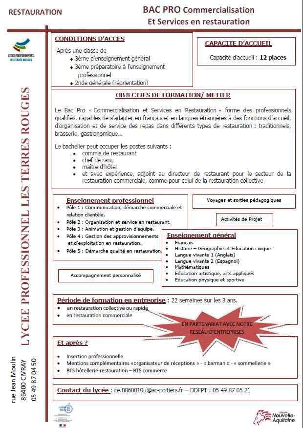 Bac pro csr - Fiche bilan de competences bac pro cuisine ...