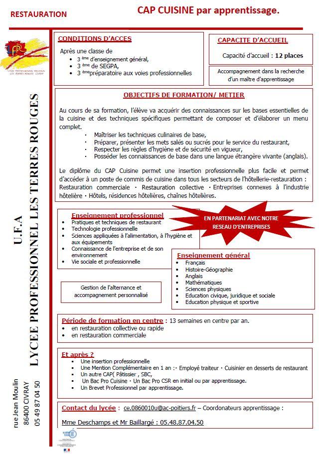 ouverture de 2 nouveaux diplômes par apprentissage - Cap Cuisine Poitiers